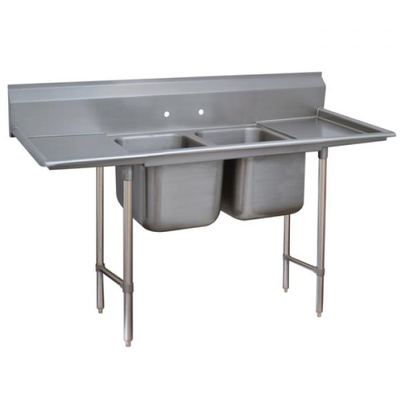 Regaline Sink, 2-compartment, with left & right-hand drainboards, 20