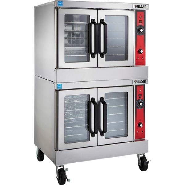 Convection Oven, gas, double-deck, standard depth, solid state controls, electronic spark igniters