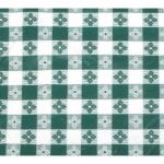 "Table Cloth, 52"" x 70"", rectangular, pvc material with cotton lining, green checkerboard"