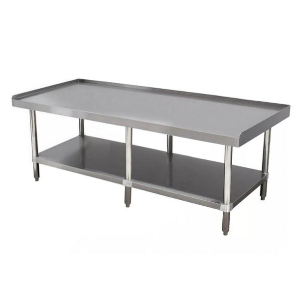 "Equipment Stand, 84""W x 30""D x 25""H (overall), 24"" working height, 14 gauge 304"