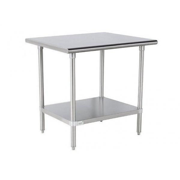 "Work Table, 30""W x 24""D, 16 gauge 430 stainless steel top, 18 gauge galvanized adjustable"