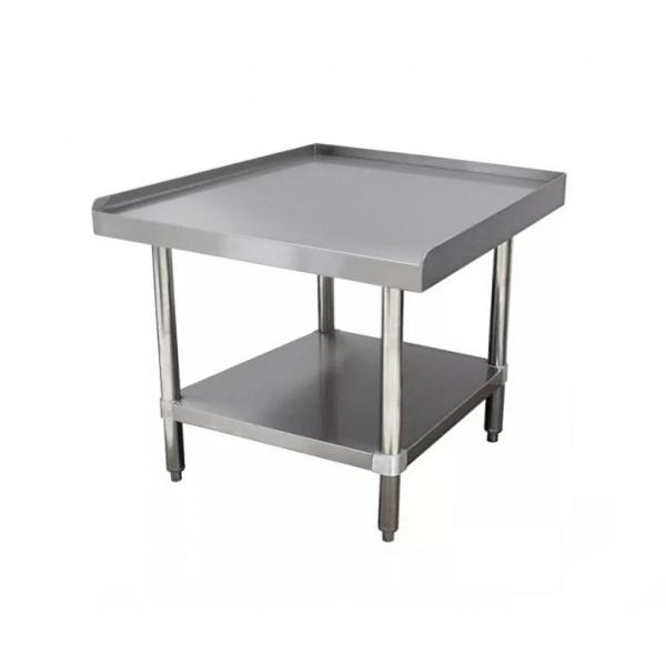 "Equipment Stand, 24""W x 30""D x 25""H (overall), 24"" working height, 14 gauge 304"
