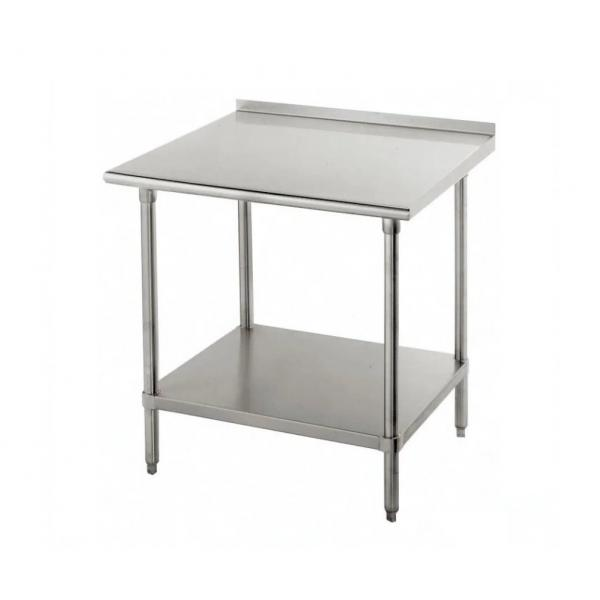 "Work Table,  36""W x 24""D, 16 gauge 430 stainless steel top with 1-1/2""H rear up-turn"