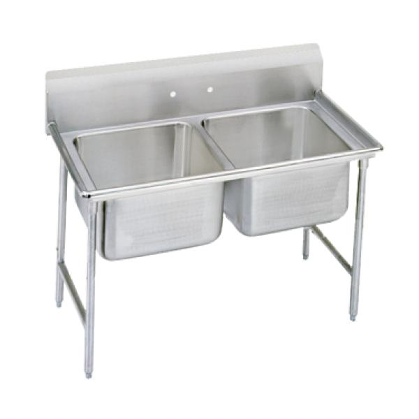 "Regaline Sink, 2-compartment, 20"" front-to-back x 16"" W compartment, 12"" dee"