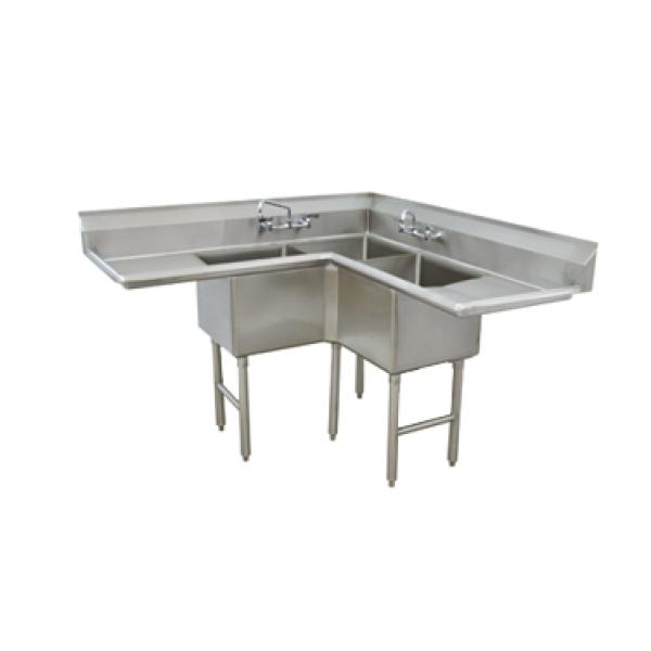 Advance Tabco Fc K6 18d Fabricated Nsf Corner Sink 3
