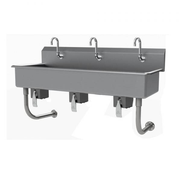 "Multiwash Hand Sink, wall mounted, with knee valve, 60""W x 19-1/2""D x 29-1/2""H"
