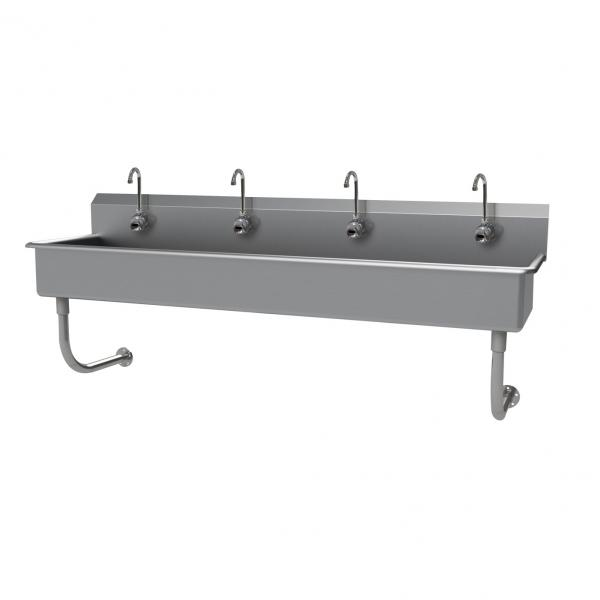 "Multiwash Hand Sink, wall mounted, with (4) electronic faucets, 80""W x 19-1/2""D x"