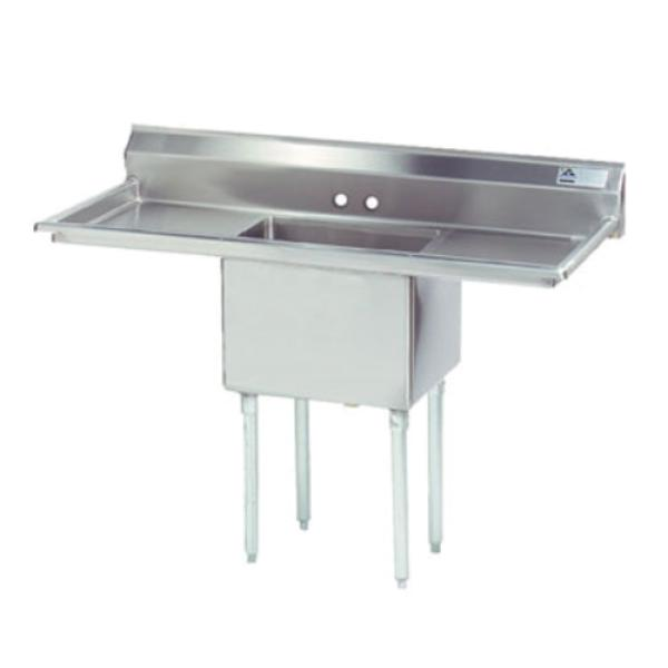 "Special Value Fabricated Sink, 1-compartment, 24"" right & left drainboards, bowl size"