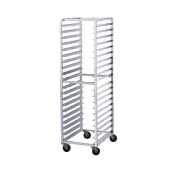 "Steam Table Pan Rack, mobile, full height, open sides, 12"" x 20"" steamtable"