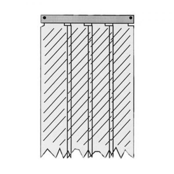 "(401SA8084490) Kason® Easimounts Strip Curtain, 44"" X 84"", (7) 8""W strips, plastic"