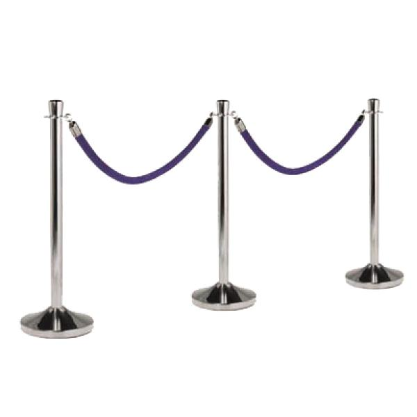 "Securit® Barrier Post & Base System, portable, 15"" dia. base x 40"" high"