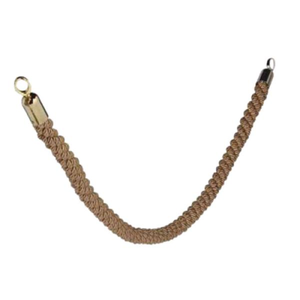 "Securit® Barrier System Rope, 2"" diameter x 60"" length, braided, bronze wit"