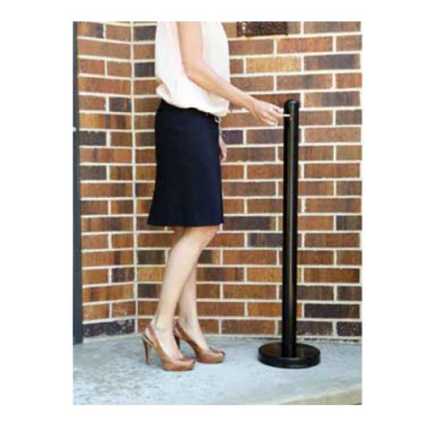"Smoker Pole, 15"" diameter base x 40"" high pole, screw off tops, free standing&#4"