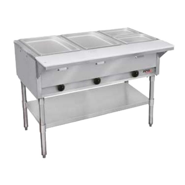 Champion Hot Well Gas Steam Table, 5 well, each well features a 3500 BTU burner, stainle