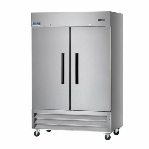 "Freezer, reach-in, two-section, 54""W, 49.0 cu. ft. capacity, electronic thermostat with digital"