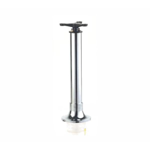 "Diner Chair Base, 24"", mounted, core drill, chrome"