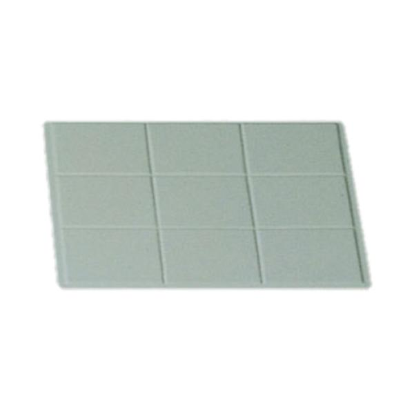 "Tile Tray, 1/2 size, 13-1/8"" x 10-3/4"", aluminum with ceramic-look coating, Sandstone, Tan"