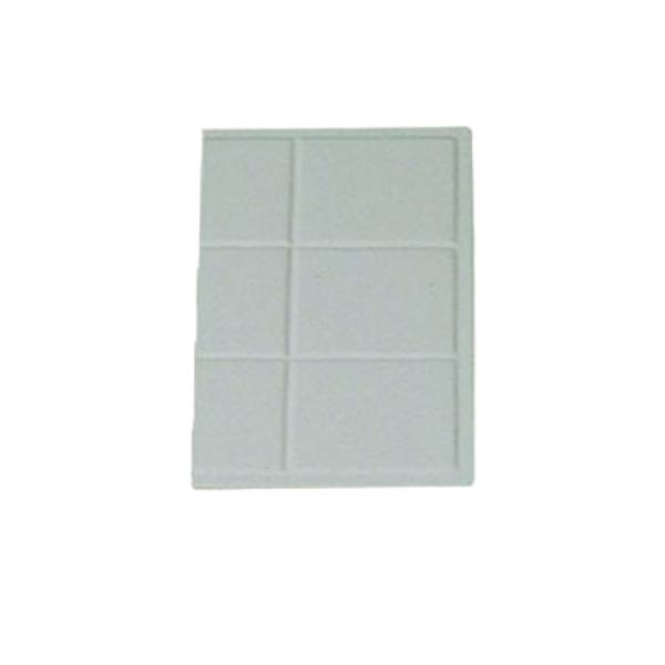"Tile Tray, 1/3 size, 13-1/8"" x 7-3/16"", aluminum with ceramic-look coating, Sandstone, Whit..."