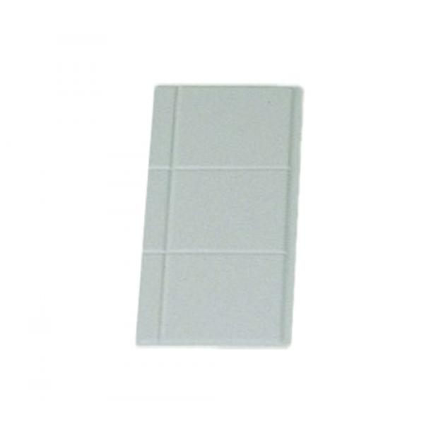 "Tile Tray, 1/4 size, 13-1/8"" x 5-3/8"", aluminum with ceramic look coating, Sandstone"