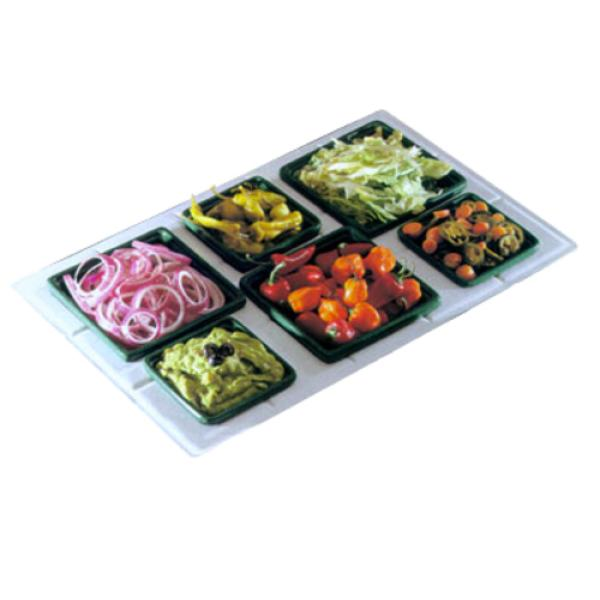 "Tile Tray, custom cut, 13-1/8"" x 21-3/8"", with 6 cutouts for (3) #9502 & (3)"