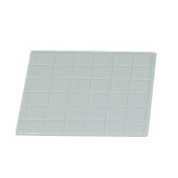 "Tile Tray, 1/2 size, 13-1/2"" x 14-1/4"", aluminum with ceramic-look coating, Sandstone"