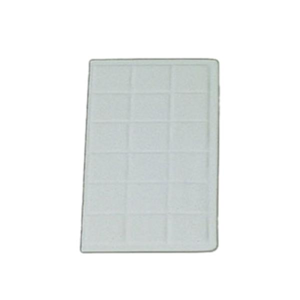 "Tile Tray, 1/4 size, 13-1/2"" x 7-1/16"", aluminum with ceramic-look coating, Sandstone"