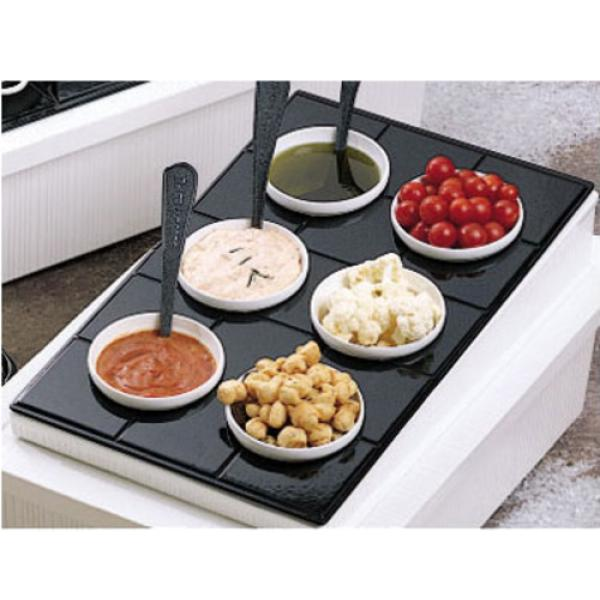 "Tile Tray, custom cut, 13"" x 21-3/8"", with 6 cutouts for (6) #9202, aluminum with"