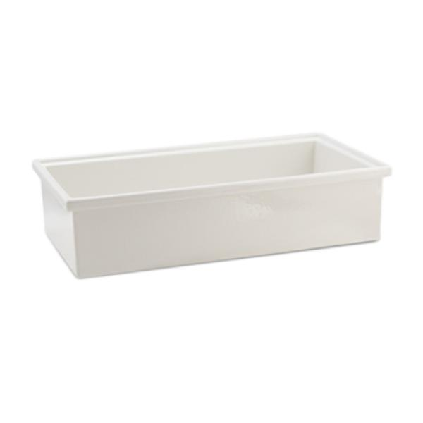 "Smart Bowl, 1/4 size, 6"" deep, 4 qt. 30 oz., 6-7/20"" x 10-1/20"", rectangular, aluminum"