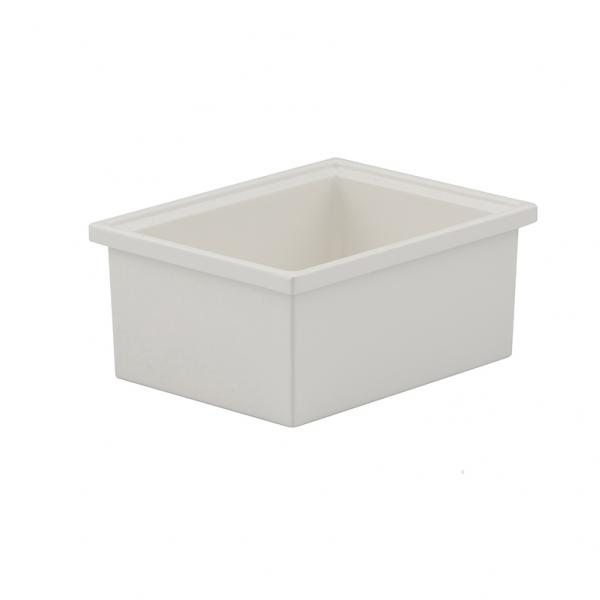 "Smart Bowl, narrow 1/6 size, 3"" deep, 36 oz., 5-1/4"" x 6-7/10"", rectangular, aluminum"