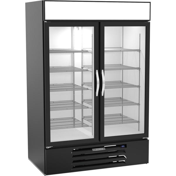 MarketMax™ Freezer Merchandiser, reach-in, two-section, (2) triple pane hinged glass doors