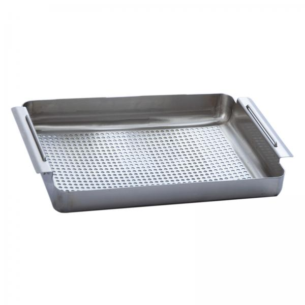 "Prep Basket, 2"" deep, fits 15"" x 15"" fabricated bowls, 16/304 stainless steel"