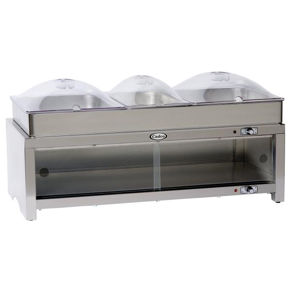 "Warming Cabinet, 28"" x 14"" removable triple buffet server top, lower food/plate warmer"