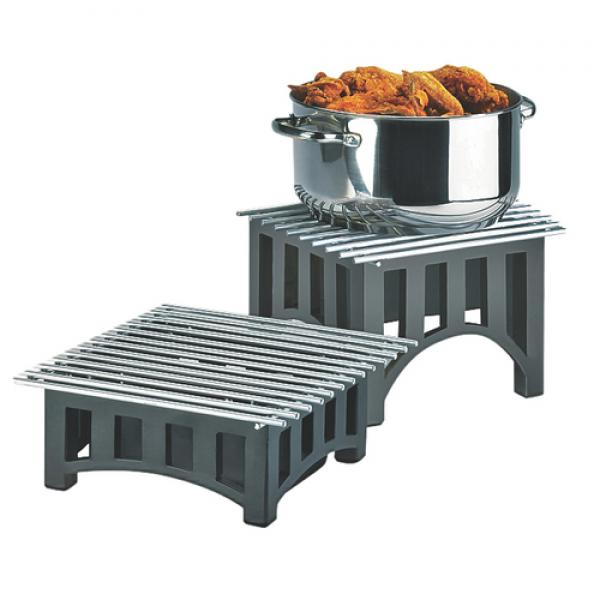 "Mission Chafer Alternative, 12""W x 12""D x 7-1/2""H, square, wire grill, fuel cell rail"