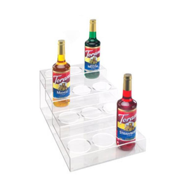 "Bottle Organizer, 4-tier, 14""W x 22""D x 12""H, holds 12 bottles, up to 3-"