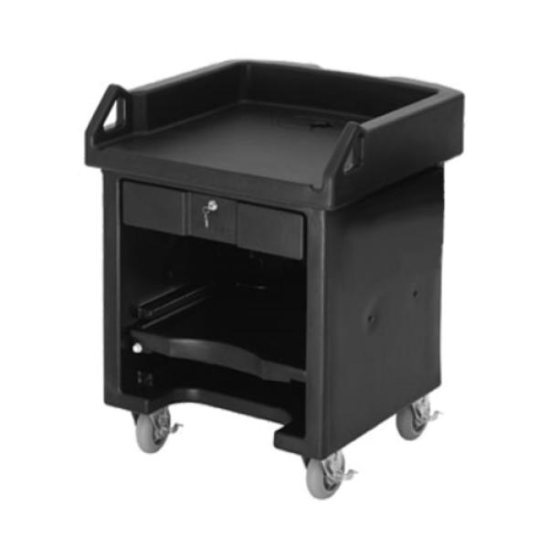 "Versa Cash Register Cart, 32""L x 32-1/4""W x 43""H, lockable center drawer"