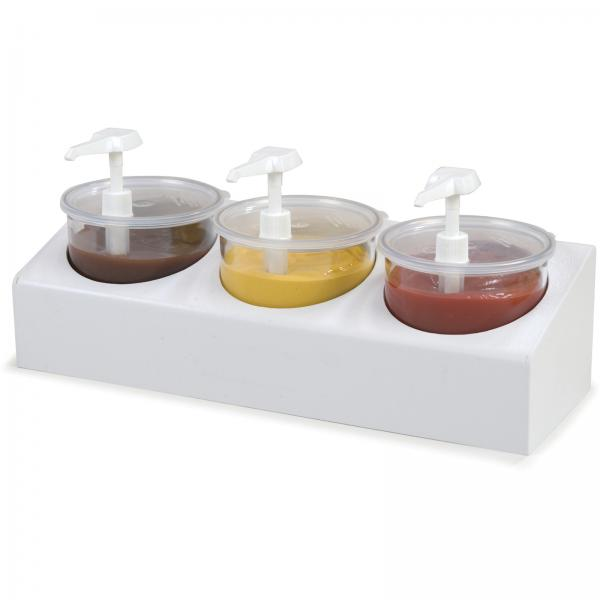 Crock Condiment Station Kit, includes: countertop organizer, (3) clear 2.7 qt. C