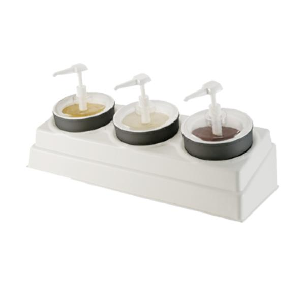 Coldmaster® Crock Organizer Condiment Set, includes a 3-hole crock organizer, (3&#4