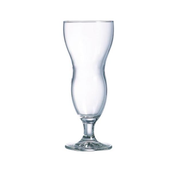 "Hurricane Glass, 14-3/4 oz., glass, Arcoroc, Hawaii (H 8-5/8""; T 3-3/16""; B 3""; M"