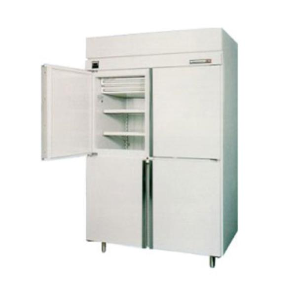 Ice Cream Hardening Cabinet, 2 section, 49.1 cubic feet, (4) solid hinged half doors, (8) epoxy
