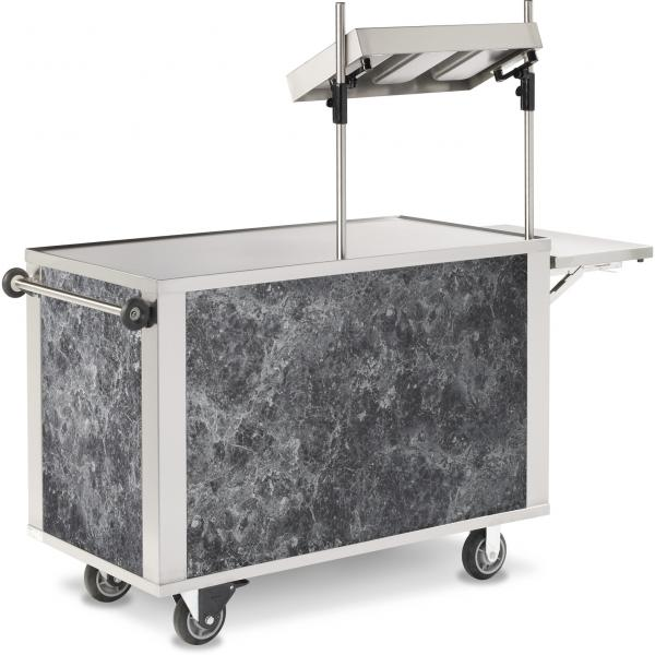 "Hydration Cart, 53.75"" x 27.19"" x 64.92"", mobile, flat work surface, marine edge"