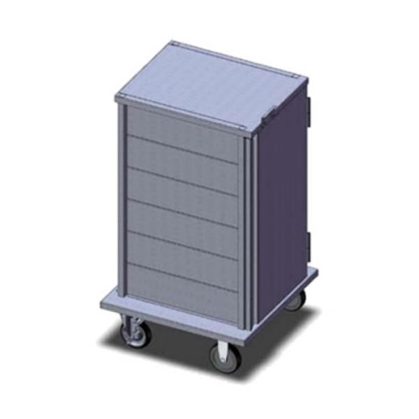 "TQ Economy Room Service Tray Delivery Cart, (1) door, 1-compartment, 42-5/8""H, enclosed, (6)"