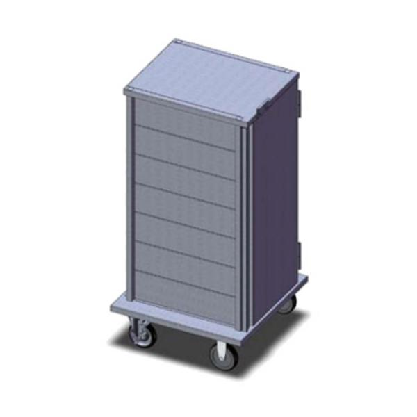 "TQ Economy Room Service Tray Delivery Cart, (1) door, 1-compartment, 48-1/4""H, enclosed, (7)"