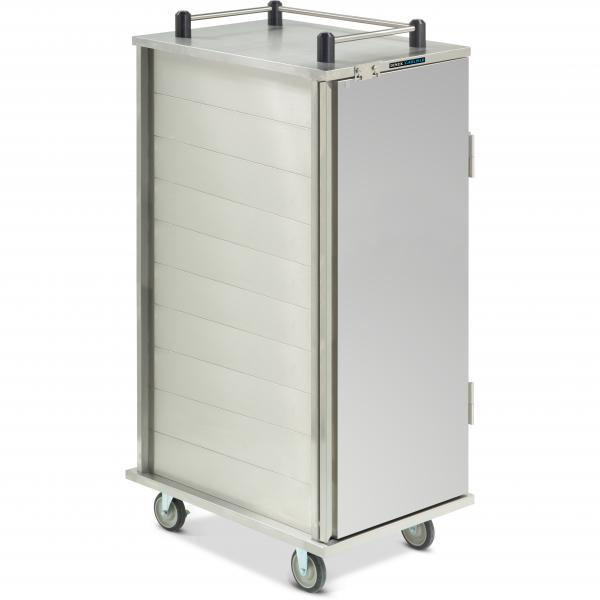 "TQ Economy Tray Delivery Cart, pass thru, (1) door, 1-compartment, 65-1/4""H, (20) tray"