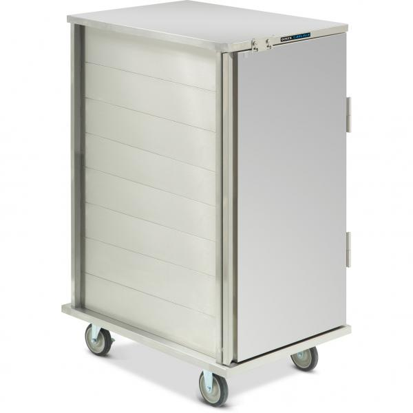 "TQ Economy Tray Delivery Cart, pass thru, (1) door, 1-compartment, 76-1/2""H, (24) tray"