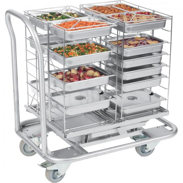 "MealtimeXpress?™ Transfer Dolly, standard, 33-8/10"" x 96-13/25 x 64/52"", stainless"