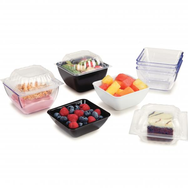 Bowl, 6 oz., square, SAN, black (96 per case)