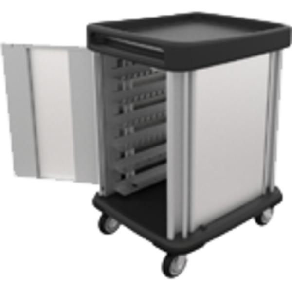 "TQ Supreme Meal Delivery Cart, (1) door, 1-compartment, 48-5/8""H, enclosed, (12) tray capacity"
