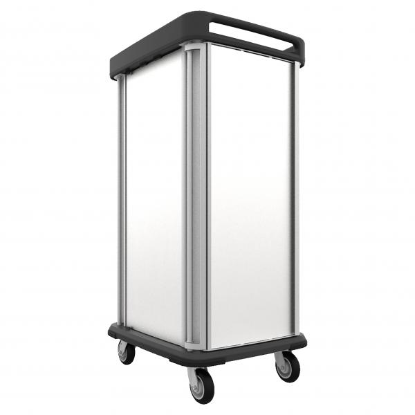 "TQ Supreme Meal Delivery Cart, (1) door, 1-compartment, 69-3/4""H, enclosed, (20) tray capacity"