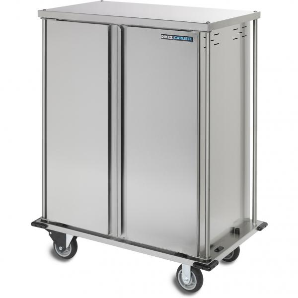 "TQ Meal Delivery Cart, (2) door, 2-compartment, 66-3/10""H, enclosed, (18) tray capacity"