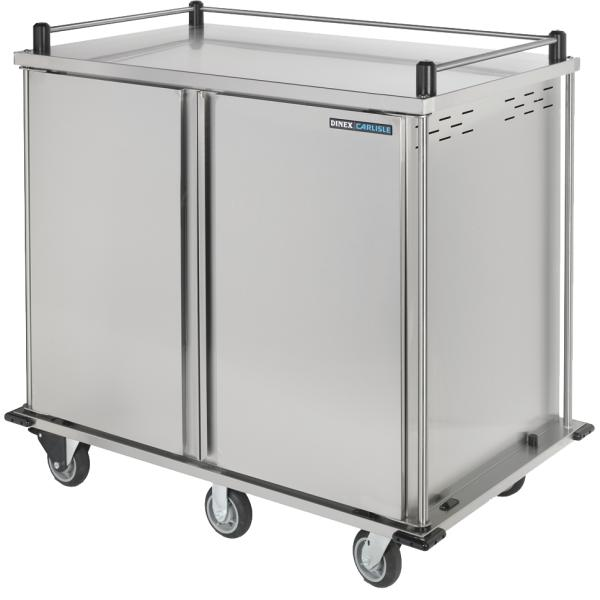 "TQ Meal Delivery Cart, (2) door, 2-compartment, 50-9/16""H, enclosed, (24) tray capacity"